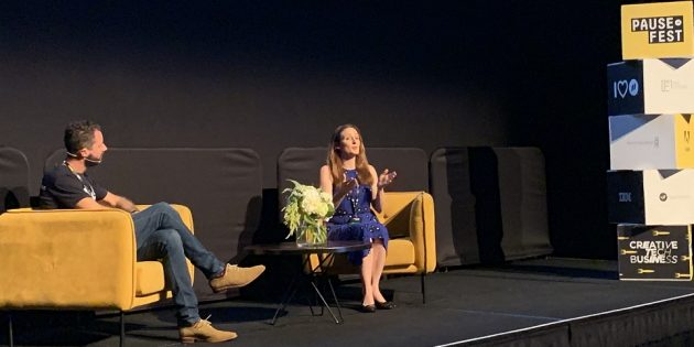 Liz Raad interviewed by Flippa CEO at Pause Fest Melbourne