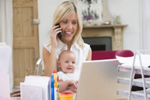Work from home mum, setting up a home office