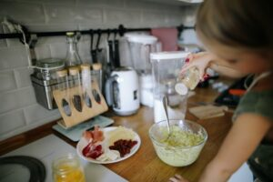 Teaching kids to cook while working at home