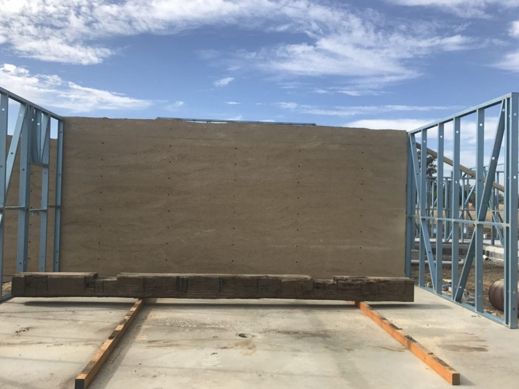 Rammed Earth and steel stud frames